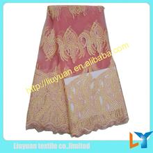 Moda bordados de tule africano laço de tecido com lantejoulas para senhora roupas Sexy