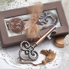 Victorian Style key wedding gift and souvenir--Key to My Heart Collection key design antique wedding bottle opener