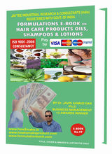 Formulations e-Book on Hair Care Products Oils Shampoos and Lotions