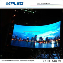 Indoor/outdoor stage curved led video wall with arc shape for hot sale