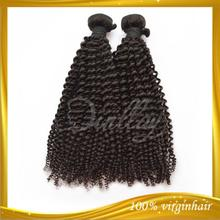 Unprocessed donor 1B# wholesale cheap kinky curly malaysian hair weft