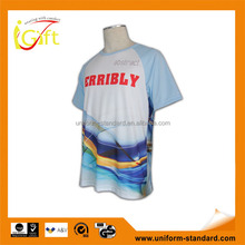Low MOQ hot sell good quality popular white design sublimation t-shirt