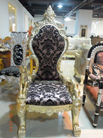 Household Royal Gold Antique Design King Chair B05#