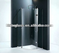 Curved tempered glass panel / tempered glass shower enclosure
