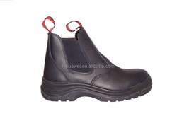 Popular Style Genuine Leather Steel Toe Safety Boots with Anti Slip Anti Resistant PU Outsole