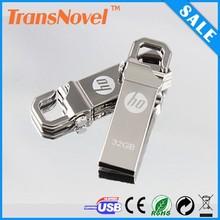 hook USB metal usb/8GB USB key Chain/Metal USB flash drive hot selling