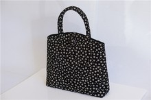 Japanese elegant floral women's bag/fancy brocade tote wholesale