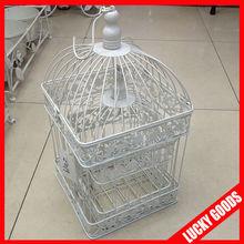 wedding decorative square shape elegant bird cages in set