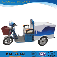 three wheel stand up electric scooter cargo motorcycles for send milk car