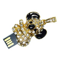 Koala design Jewelry USB drives,crystal flash memory,crystal gift USB for promotion