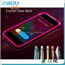 NEW Baseus Transparent Shine Light Glitter Luminous Called Sense LED Flash Light Case For iPhone 6 5.5 1mm Ultra Thin Back Cover
