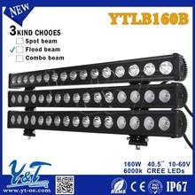 China supplier longer lifetime+higher lumens 160w led working light bar with mount bracket
