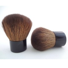 kabuki brush black and brown nylon with cute shape shipping company