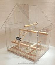 Special clear acrylic bird cage, storage plexiglass/Pmma/acrylic bird hamster cage