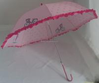 Japanese style fashion ladies umbrellas with trim long automatic umbrella