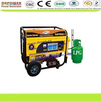6kw 1phase&3phase small lpg generator,natural gas generator