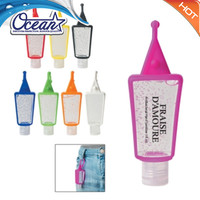 scented 30ml,1 oz hand sanitizer with silicon holder
