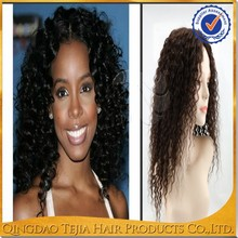 Factory direct sale middle parting afro kinky cury glueless lace front wig for black women