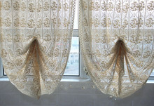 fan-shaped, pushing-up, lifting crochet curtains with european style