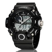 wholesale ohsen AD style shock clock men military outdoor waterproof 50m dive swim sports watch digital shocking watch