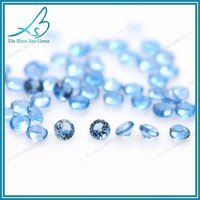 Heat resaitant 1200 degrees centigrade light aquamarine nano synthetic stones for jewelery