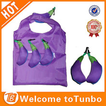 Promotion fold up shopping bag, recycled shopping reusable bags polyester