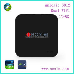 2015 hot sales smart tv box 4k VS812 amlogic s812 cpu mx m8 tv box