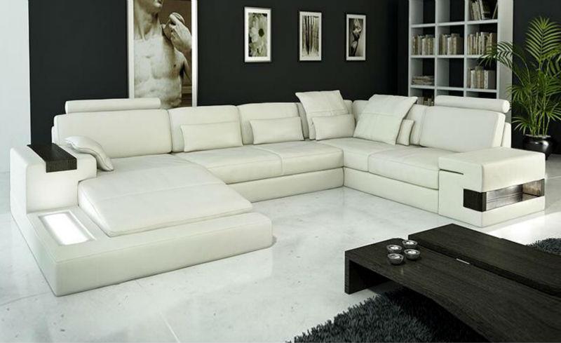 Latest Design Modern Sofa Luxury Large Siz Light L Shaped