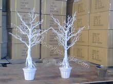 90CM white potted artificial wish tree mantaniza wedding table tree centerpiece