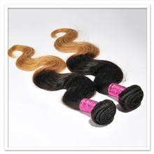 Body wave two tone human hair high quality brazilian hair