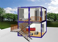 use steel and glass material designed modular house