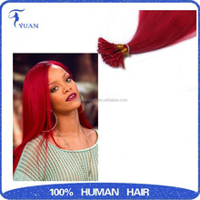 Raw 100% Human Hair,Peruvian/European/Brazilian Straight Red Hair Extension