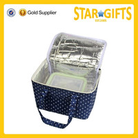 Wholesale oxford foldable insulated wine carrier tote bag from China