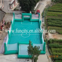 High quality of PVC trapaulin material football court, football soap inflatable, inflatable field for customization