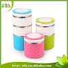 2015 new products Multilayer Stackable Insulated Stainless Steel Lunch Box Bento Food Container