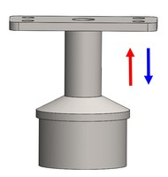 Patent design Up and Down adjustable handrail bracket