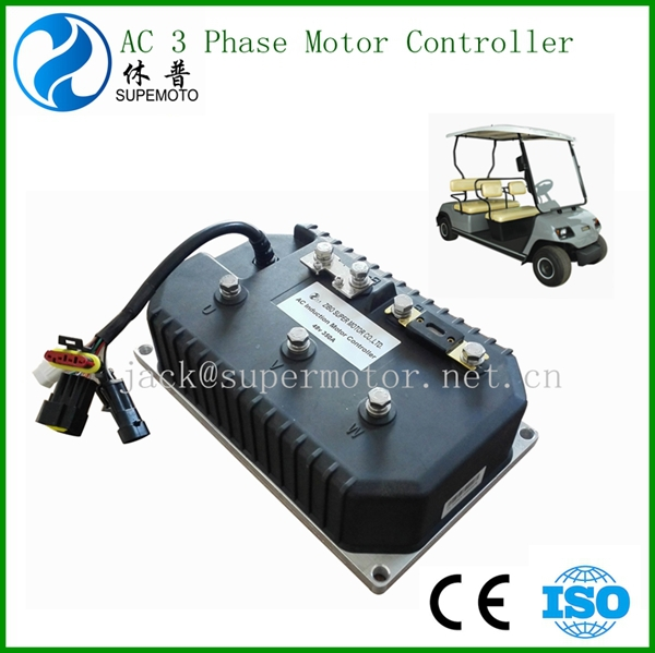 Electric golf car ac 3 phase motor controller 48v 400a for 3 phase dc motor controller