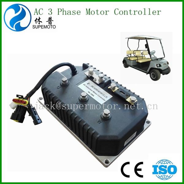 Electric Golf Car Ac 3 Phase Motor Controller 48v 400a