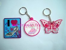 cute fashion custom 3D soft magnetic keychain