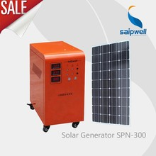 Saipwell más nuevo sistema de energía solar 300W/ Mini sistema de iluminación solar para interiores