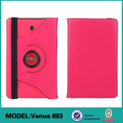 Manufacturers rotating degree flip leather case cover for DELL Venue 8 tablet pc
