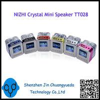 Crystal Acrylic Mini Speaker With Colorful Flashing LED Light TT028
