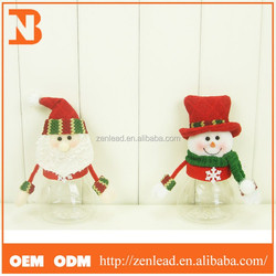 Christmas holiday decorations Piggy bank snowman candy jar