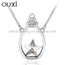 OUXI Glowing crystal necklace made with Swarovski Elements