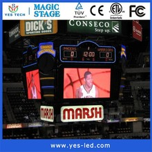 NBA Full Color LED electronic basketball scoreboard,led electronic digital gymnastics scoreboard