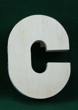blanco letras de madera al por mayor en la decoración del hogar de madera