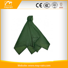1020 Green Vinyl Rain Poncho for promotion