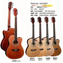 39 inch QAG3902 five color acoustic guitar for names of string instruments