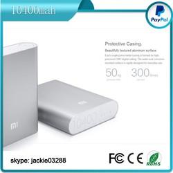 Free sample 100% original xiaomi power bank 10400mah
