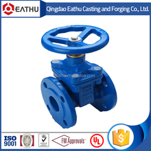 DIN 3352 F4 flanged end resilient seat non-rising stem gate valve PN16